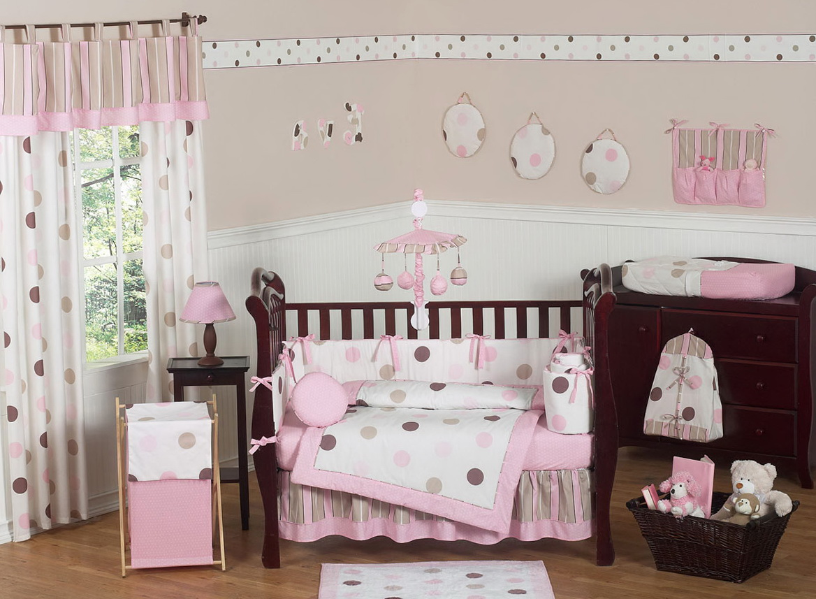 Pink And Brown Curtains For Nursery