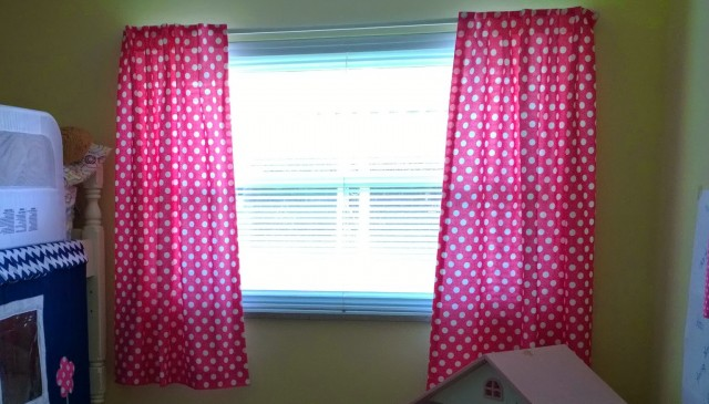 Pink Polka Dot Blackout Curtains