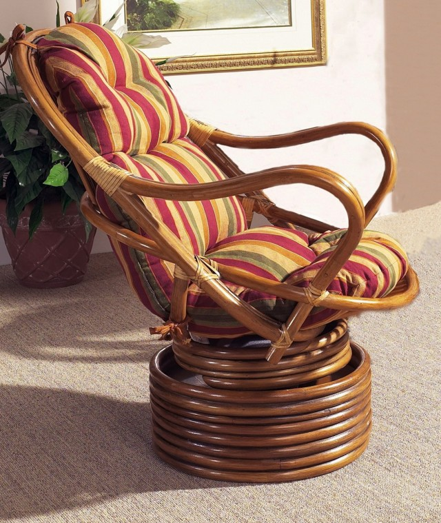 Rattan Swivel Chair Cushions