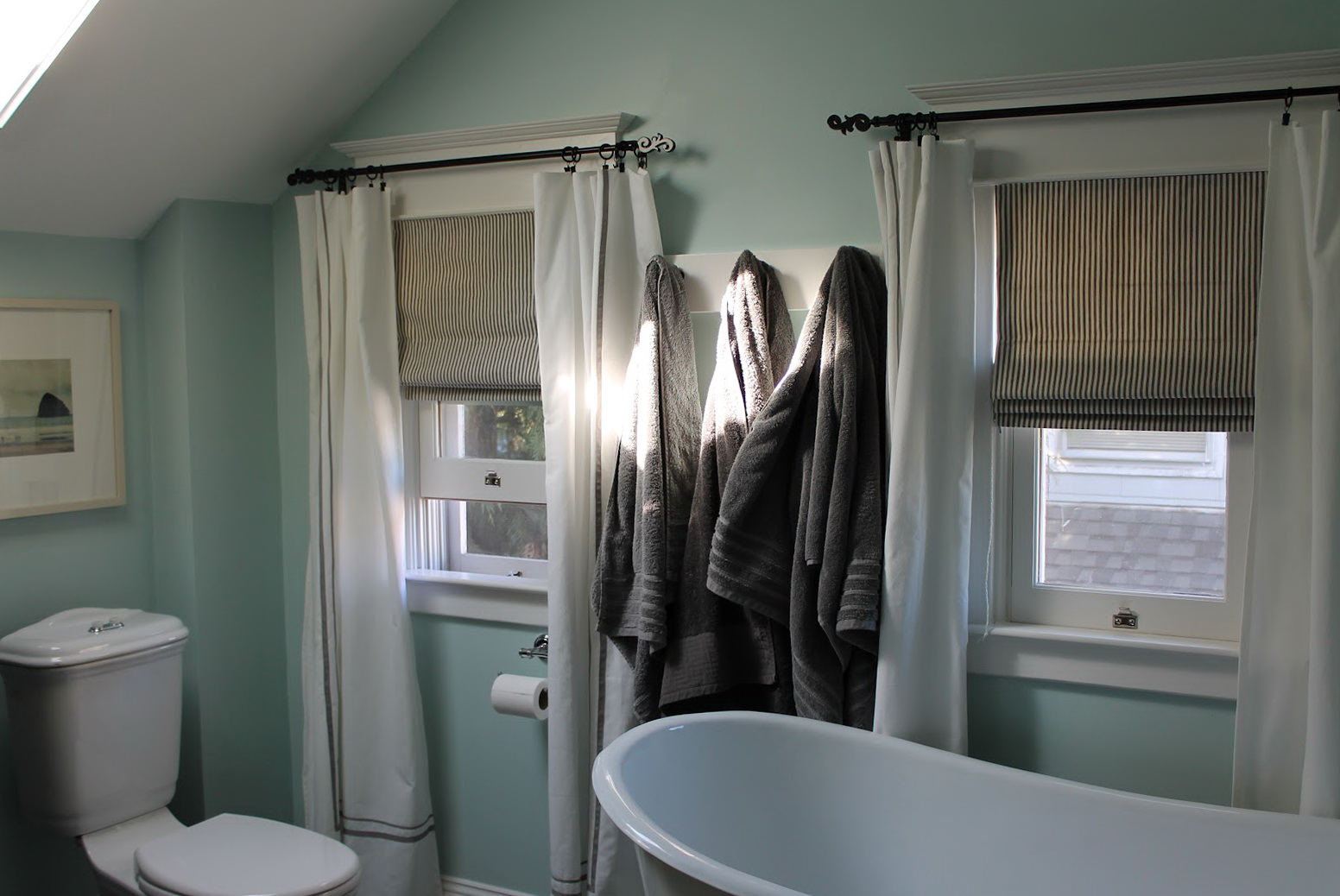 Roman Blinds With Curtains