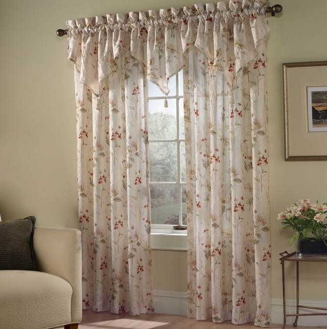 Sheer Swag Curtain Ideas