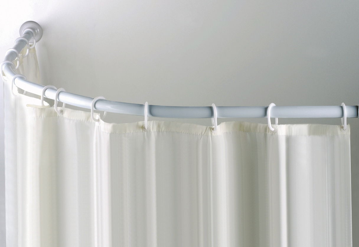 Shower Curtains Rods Curved Adjustable