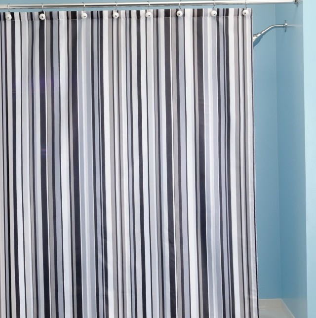 Striped Shower Curtains Fabric