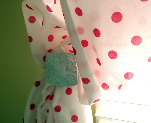 White And Pink Polka Dot Curtains
