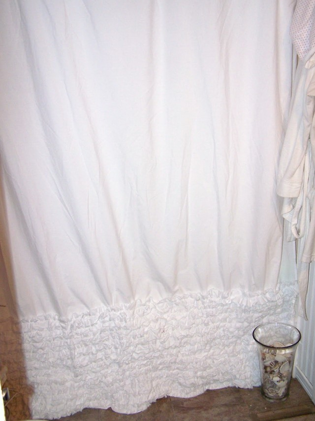 White Ruffle Shower Curtain Anthropologie