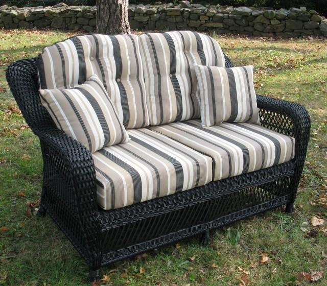 Wicker Loveseat Cushion Set