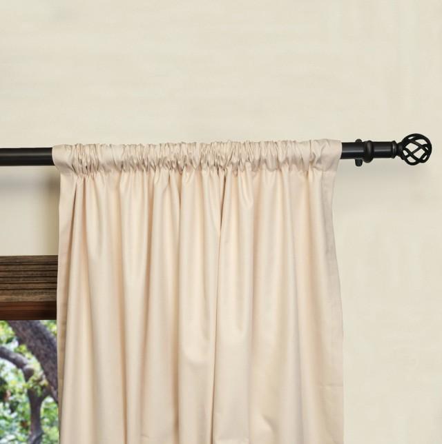 Wide Pocket Curtain Rod Installation