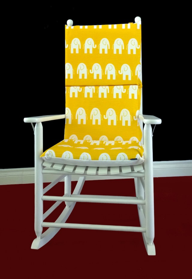 Yellow Rocking Chair Cushions