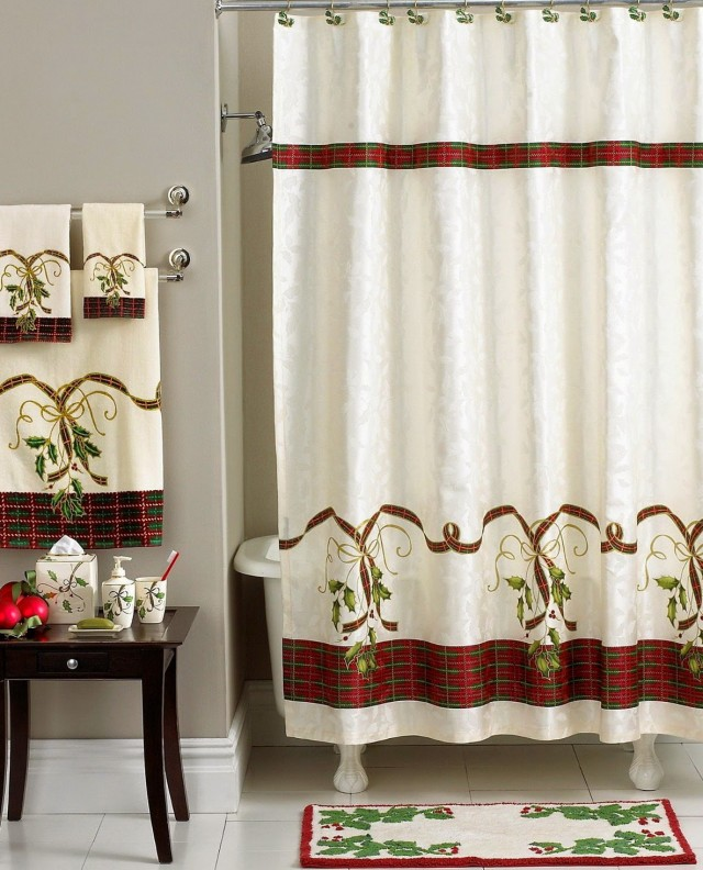 Christmas Shower Curtains Sets