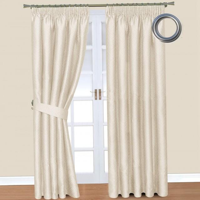 Cream Blackout Curtains 66x54