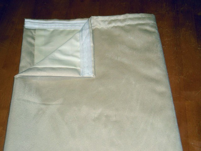 Cream Blackout Curtains 90 X 54
