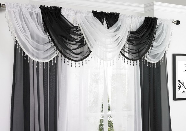 Crystal Beaded Curtain Panels