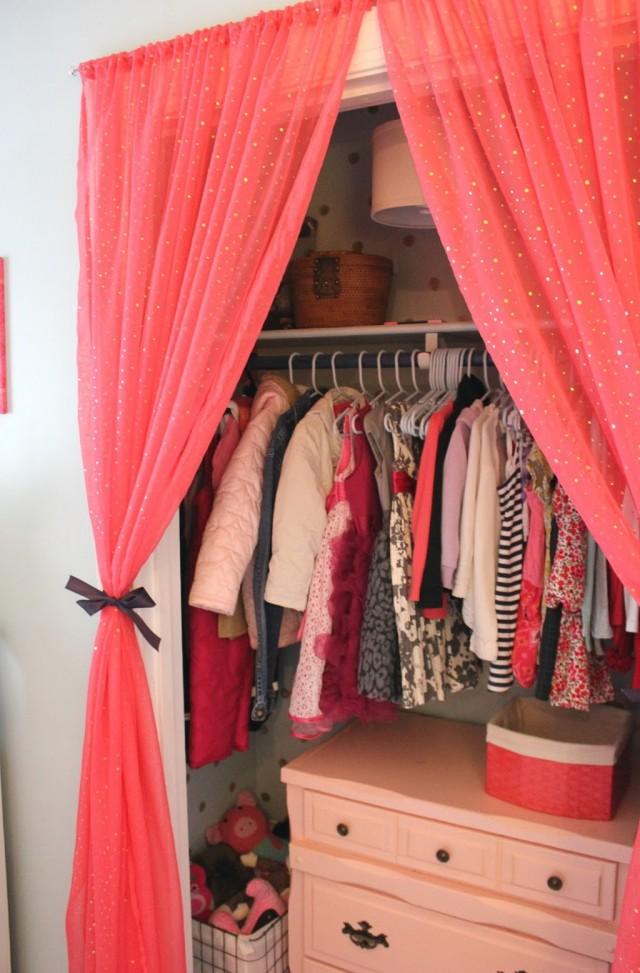 Curtain Over Closet Door