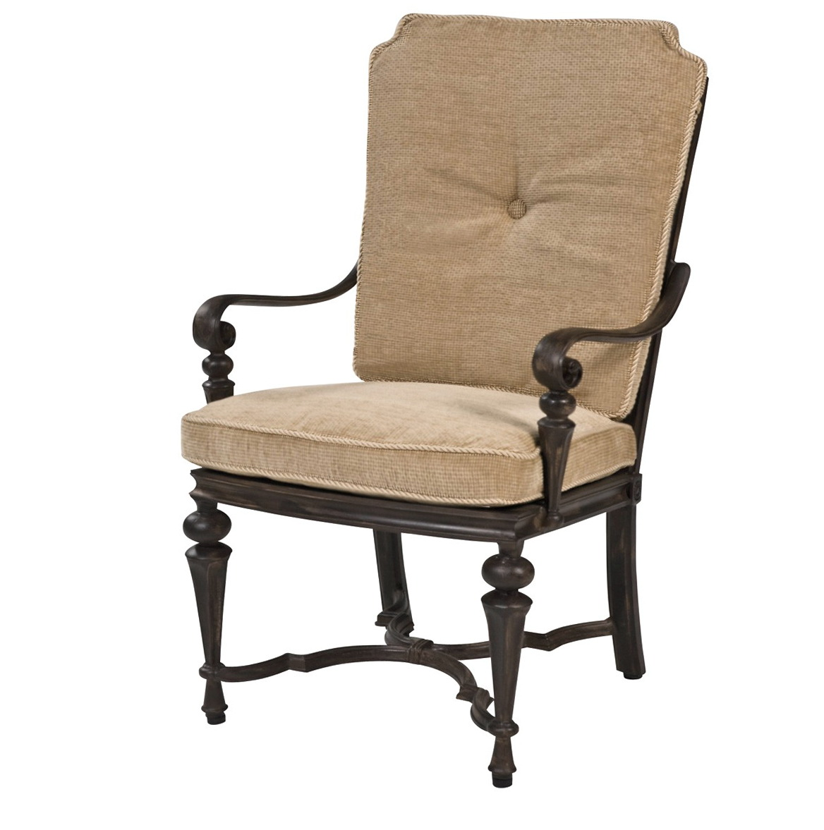 Cushioned Dining Chairs With Arms