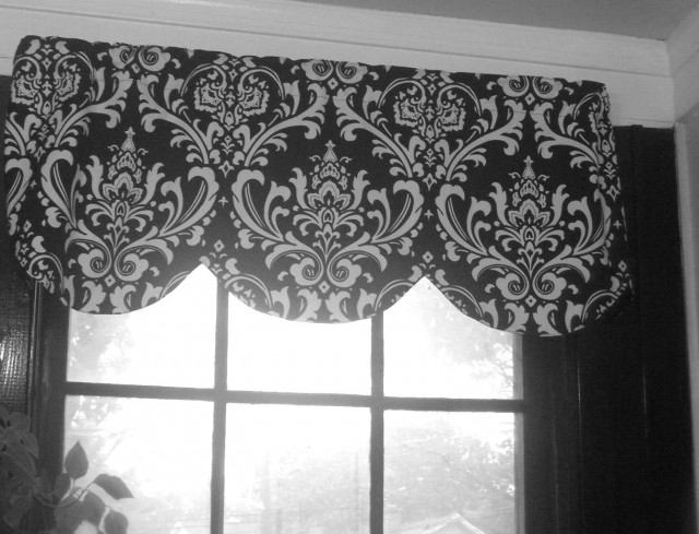Damask Curtains Black And White
