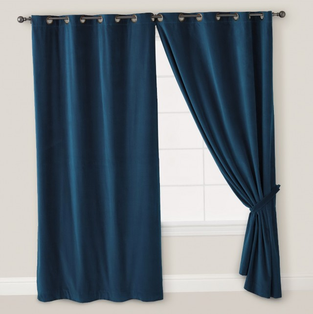 Dark Blue Bedroom Curtains