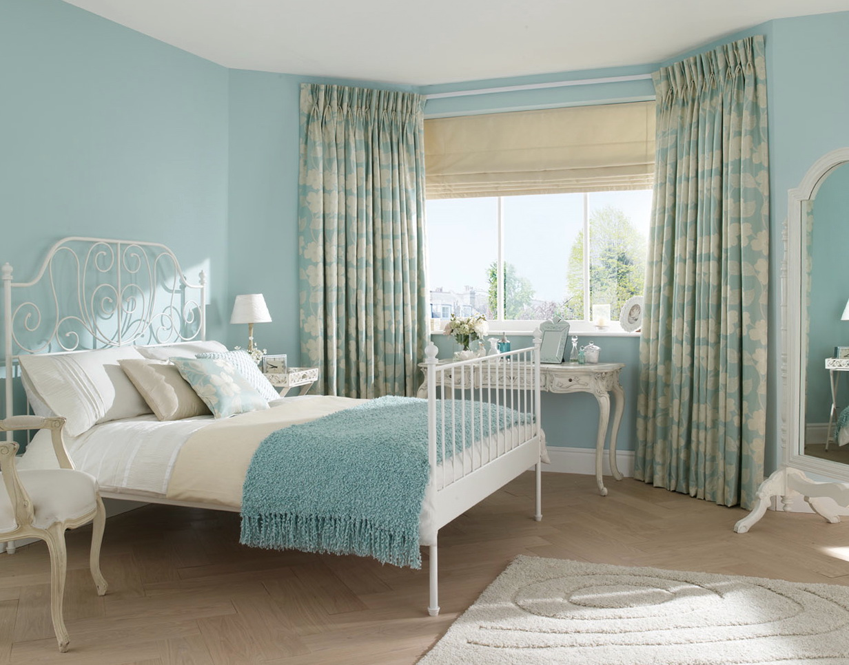 Duck Egg Blue And Grey Curtains