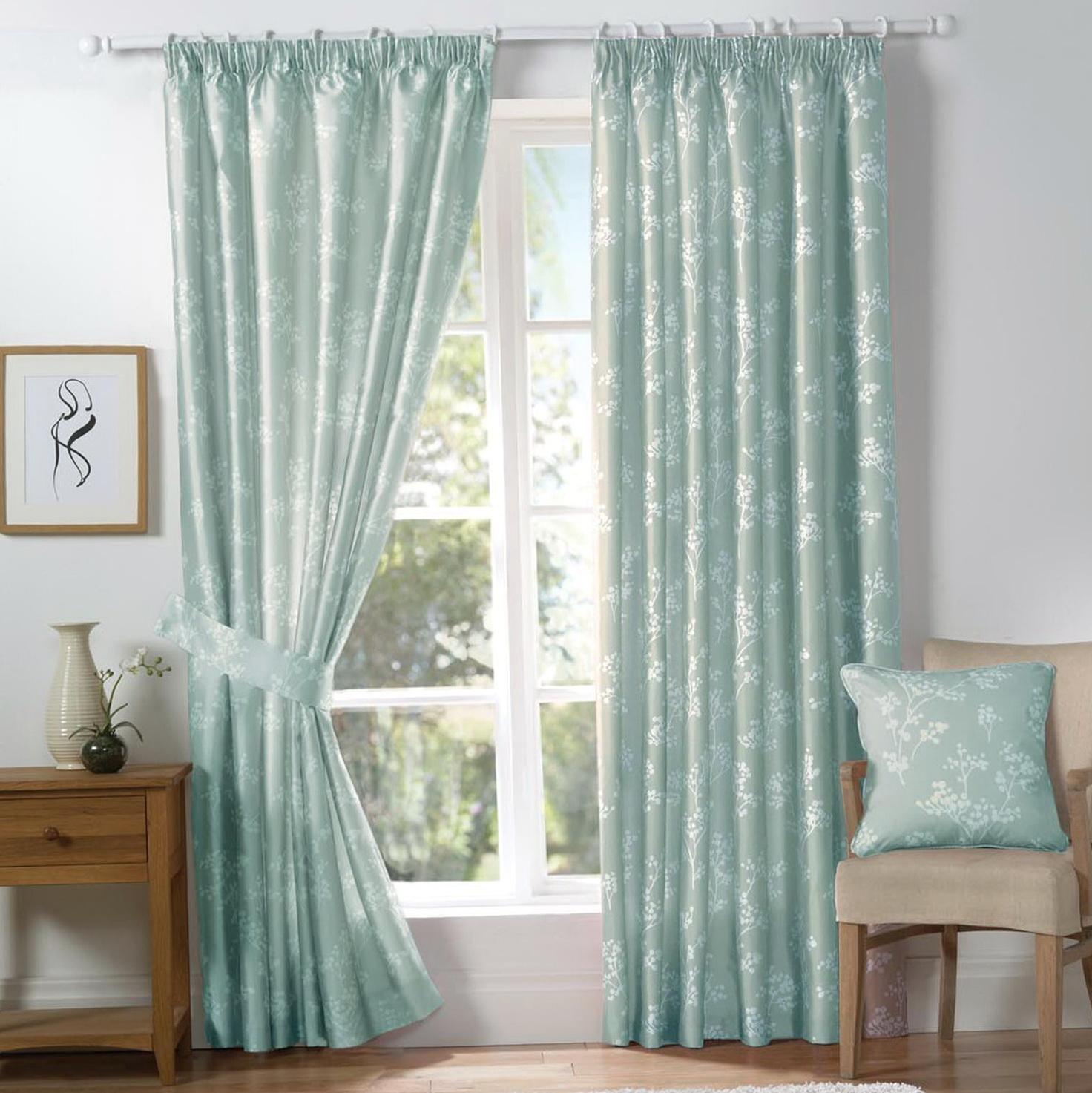 Duck Egg Blue Bedroom Curtains