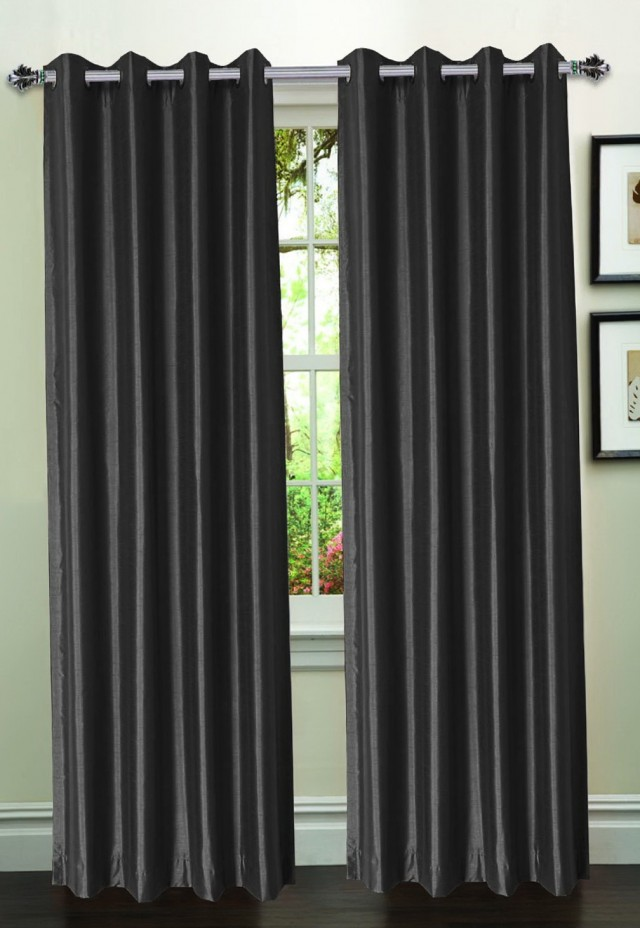 Faux Silk Curtain Panels 95 Inch