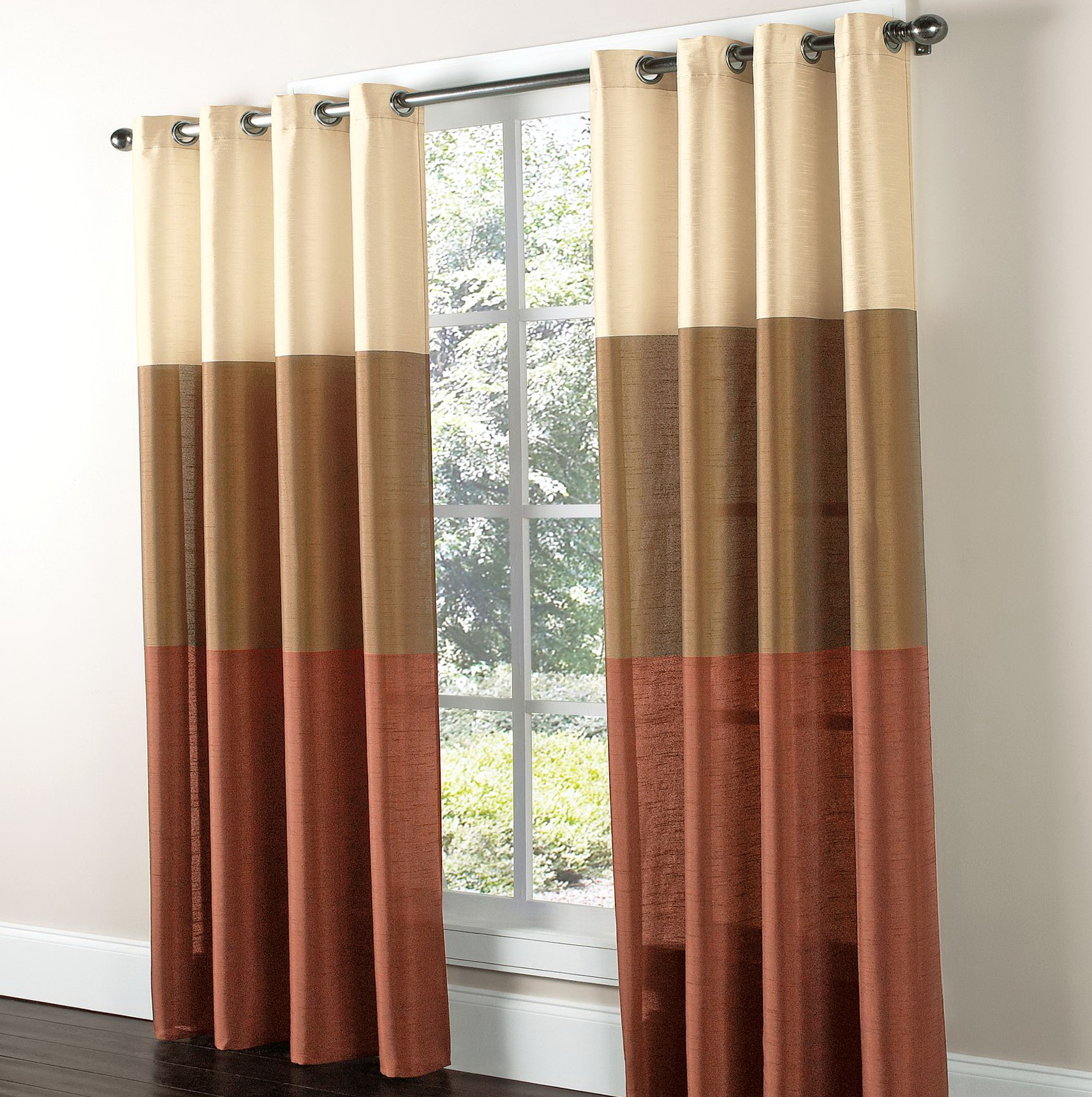 Faux Silk Curtain Panels Grommet