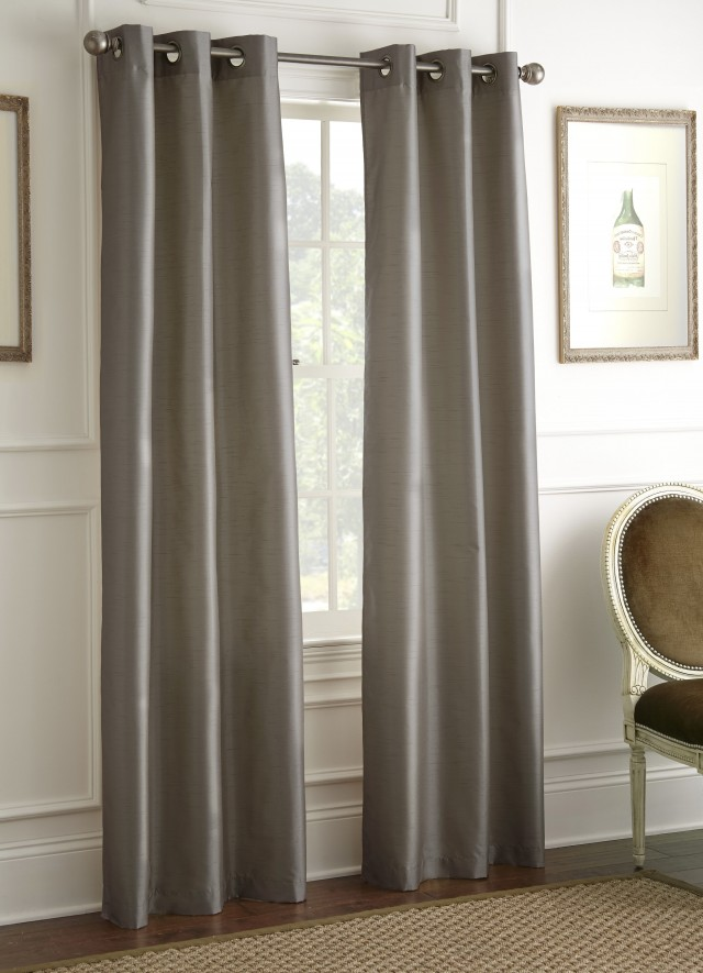Faux Suede Curtains Mocha