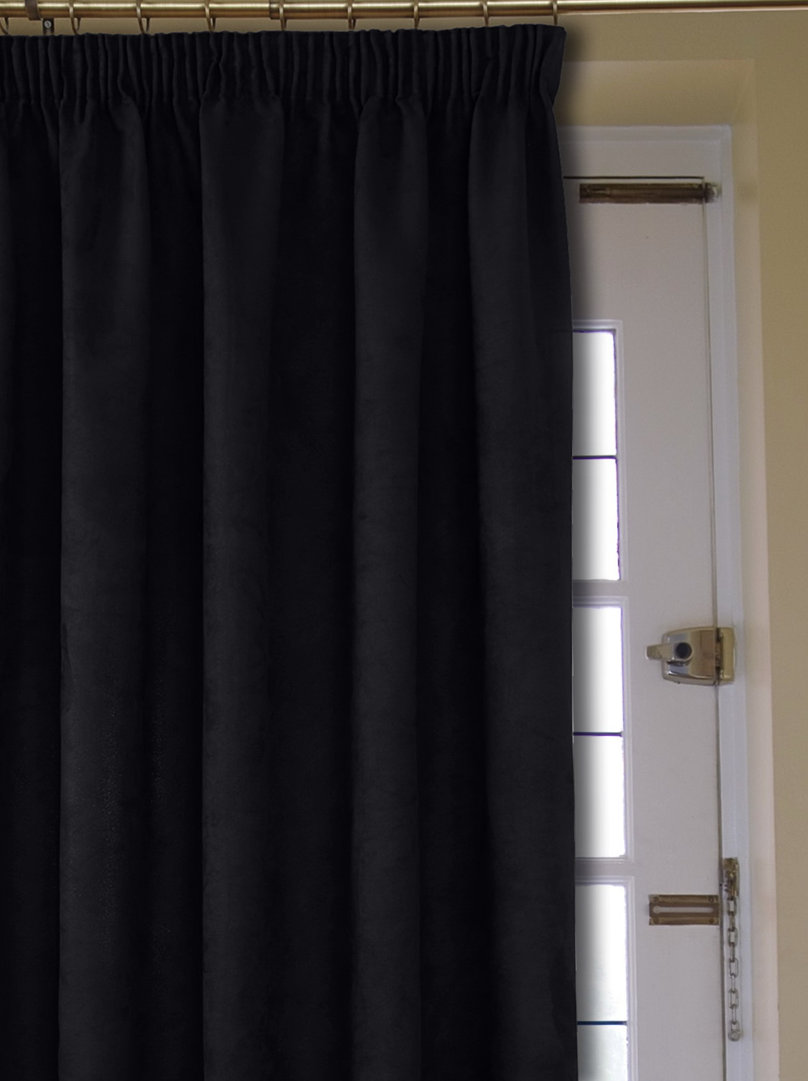 Faux Suede Curtains Pencil Pleat