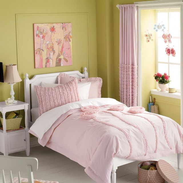 Girls Bedding And Curtain Sets