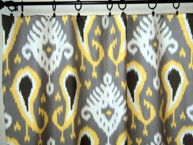 Grey Bathroom Window Curtains
