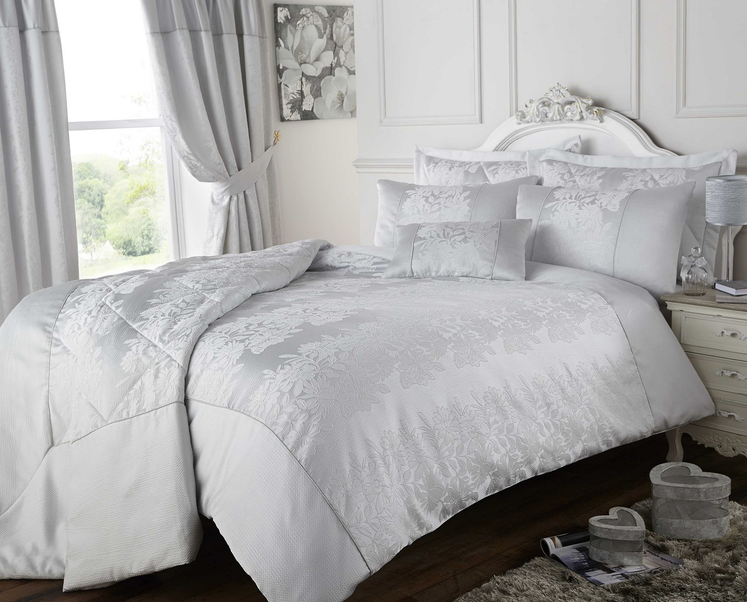 Grey Bedding And Curtain Sets