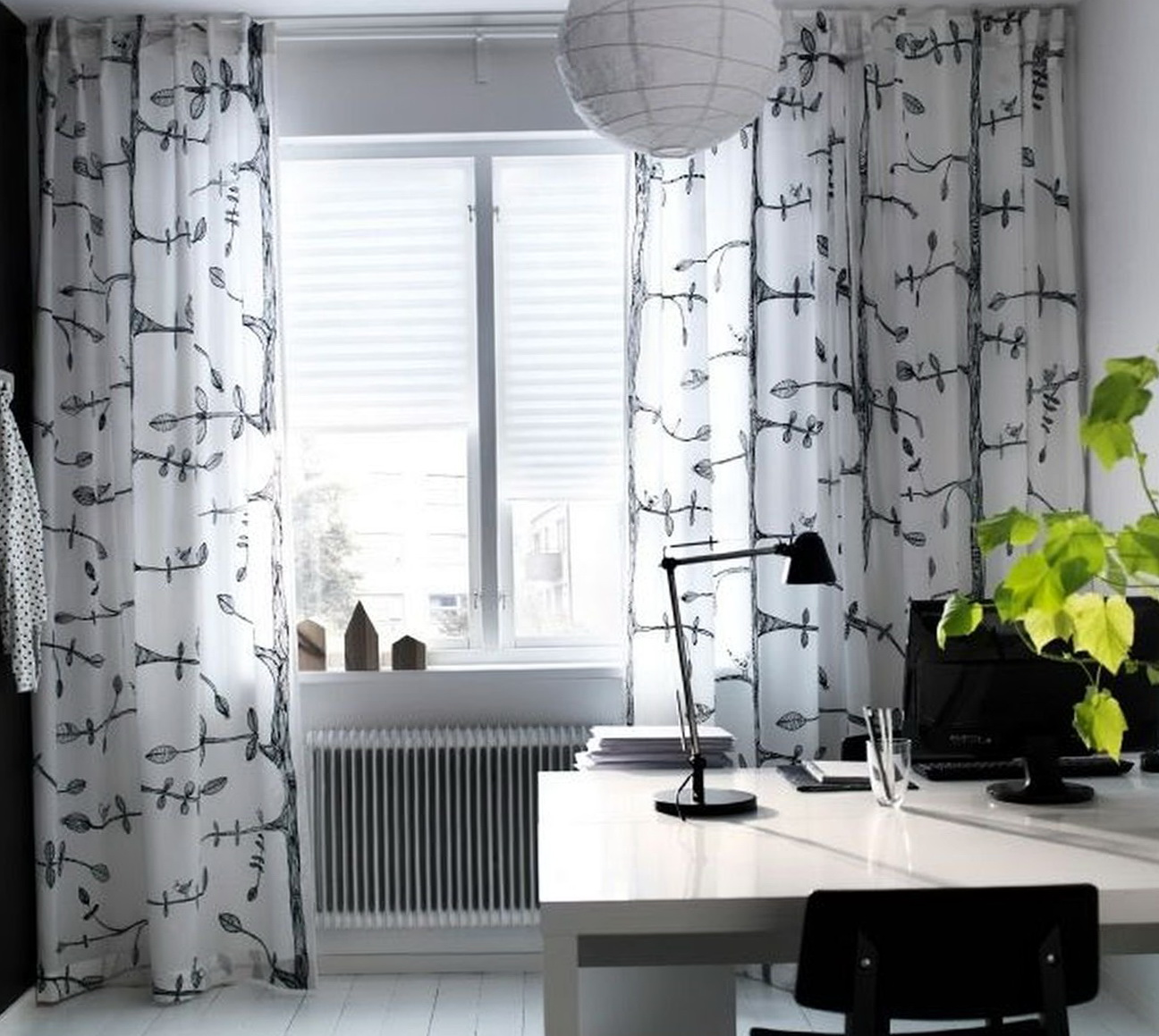 Ikea Curtains Black And White