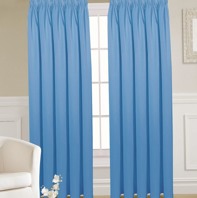 Light Blue Linen Curtains