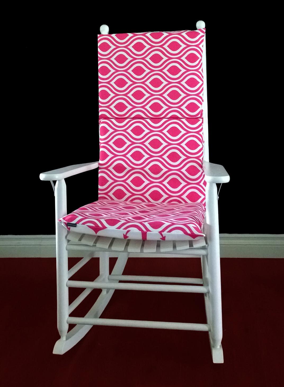 Pink Rocking Chair Cushions