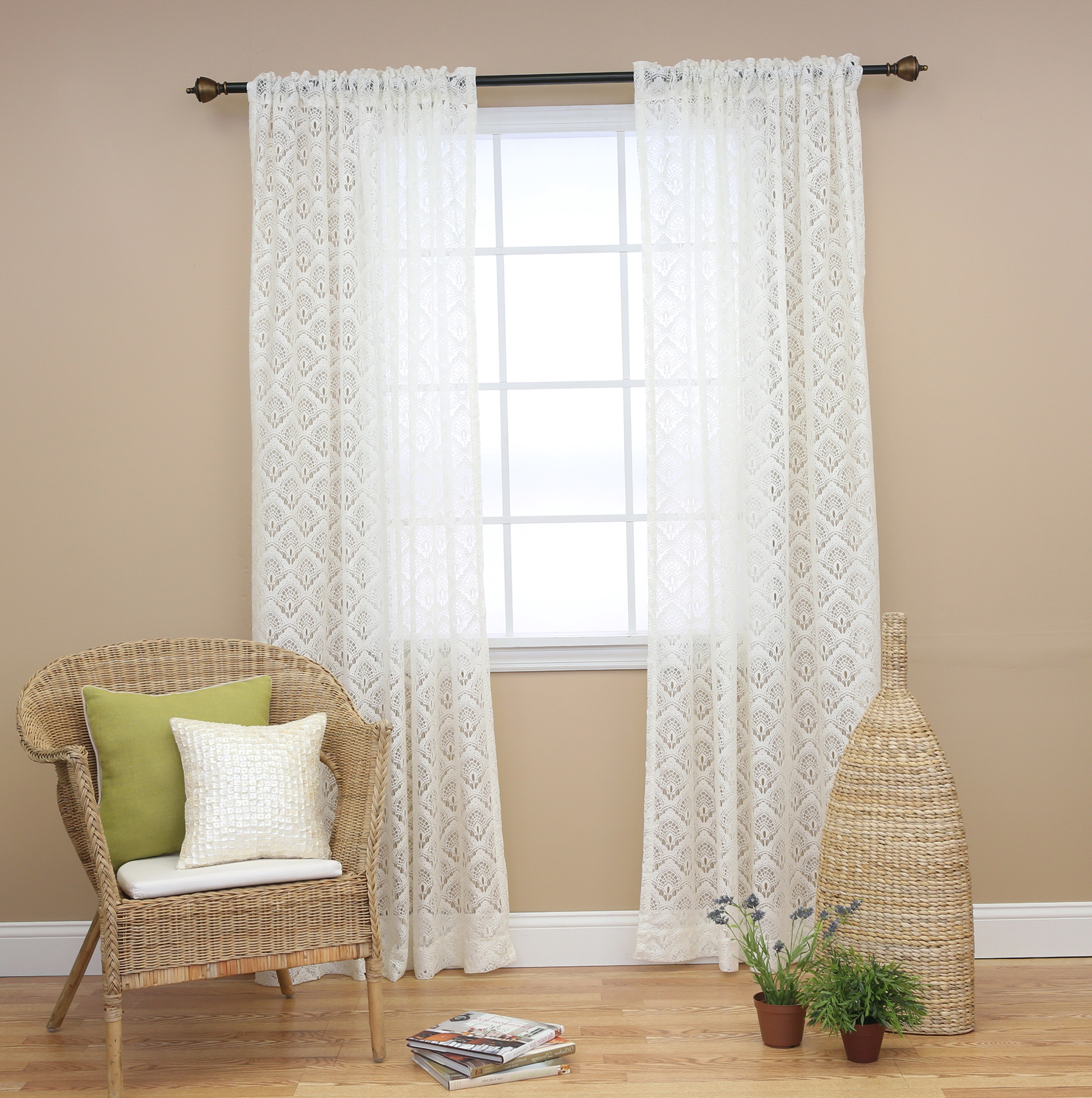 Sheer Curtains With Lace Trim
