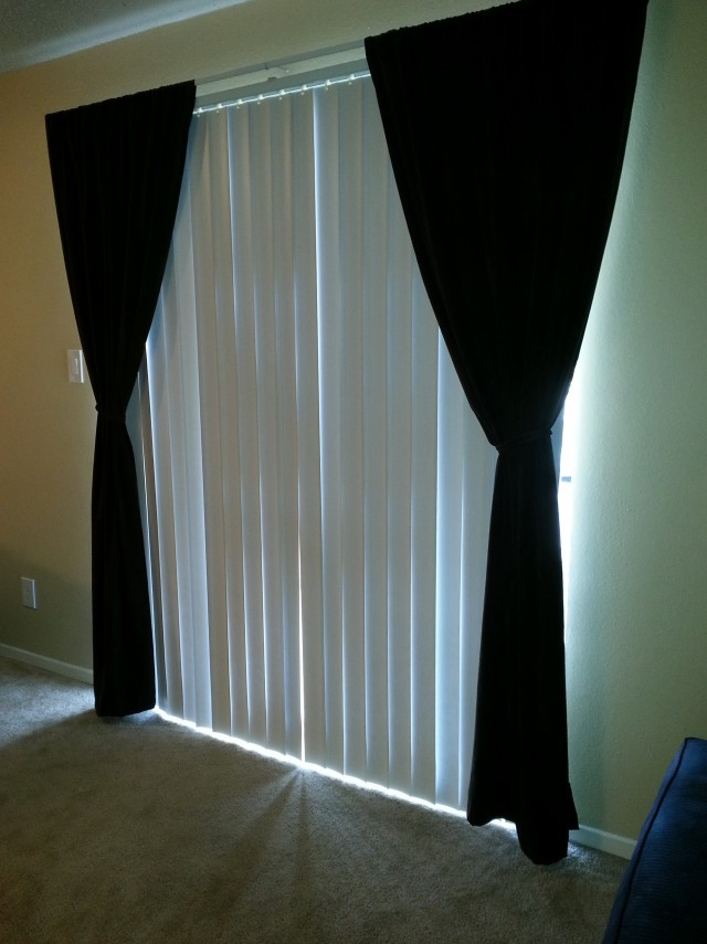 Vertical Blinds And Curtains Together