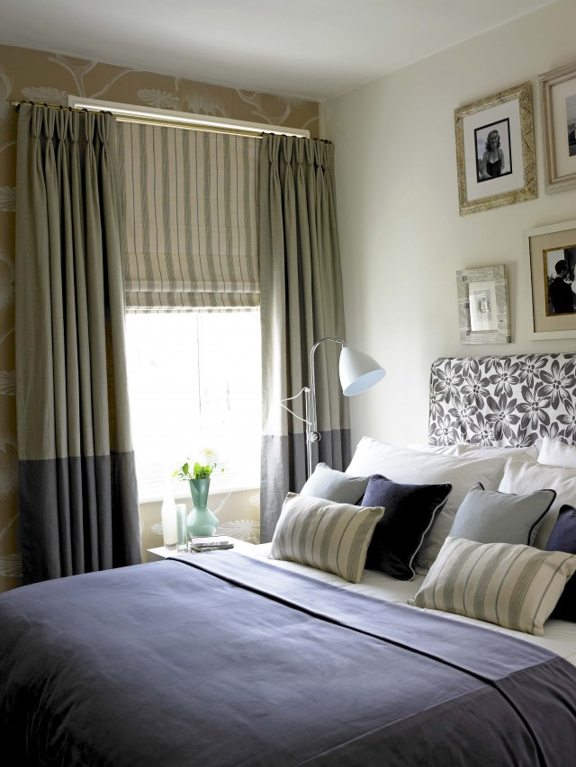 Window Blinds And Curtains Together