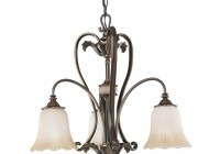 3 Light Chandelier Bronze