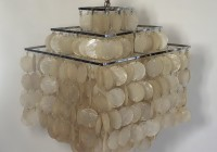 3 Tier Capiz Shell Chandelier