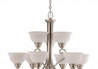 5 Jar Glass Chandelier Brushed Nickel