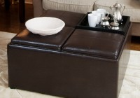 Inexpensive Brown Leather Ottoman Coffee Table 800×800