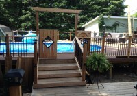 Above Ground Pool Deck Ideas Pinterest