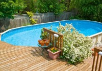 Above Ground Pool Decks And Landscaping