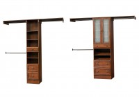 adjustable wood closet shelving