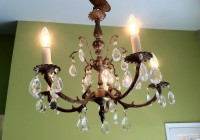 Antique Brass Chandelier Made In Spain