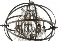 Antique Bronze 8 Light Chandelier