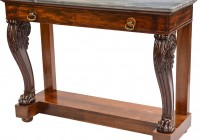 Antique Console Table With Marble Top