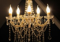 antique gold crystal chandelier
