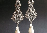 Antique Silver Chandelier Earrings