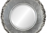 Antique Silver Round Mirror