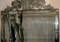 Antique Venetian Glass Mirror