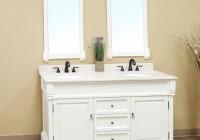 Antique White Bathroom Mirror